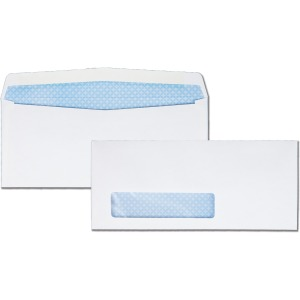 Quality Park Wove Finish Security Window Envelope