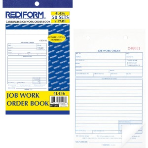 Rediform 2-part Job Work Order Book