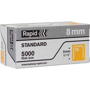 "Rapid R23 No.19 Fine Wire 5/16"" Staples"