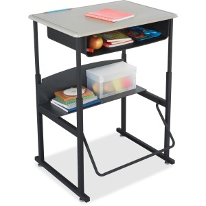 Safco AlphaBetter Desk, 28 x 20 Standard Top with Book Box