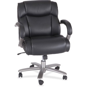 Safco Big & Tall Leather Mid-Back Task Chair