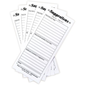 Safco Suggestion Box Card Refills