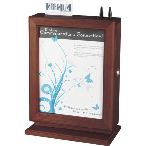 Safco Customizable Mahogany Suggestion Boxes