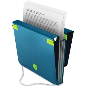 Samsill TRIO 3-in-1 Organizer - Binder + Expanding File + File Hanging Clips-Turquoise