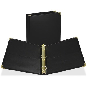 Samsill Leatherlike Classic Collection Round Ring Binder