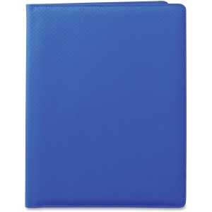 "Letter - 8 1/2"" x 11"" Sheet Size - 3 Pocket(s) - Polyvinyl Chloride (PVC) - Blue - 1 Each"