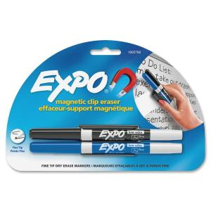 Expo Magnetic Clip Eraser with Markers