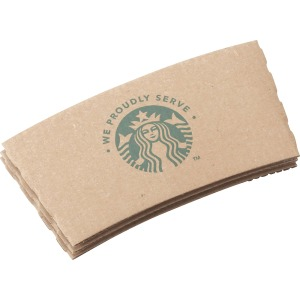 Starbucks We Prdly Serve Hot Cup Sleeves