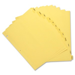 Sparco Monthly Clear Plastic Index Dividers