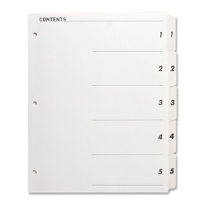 Sparco Quick Index Dividers with Table Of Cont. Page