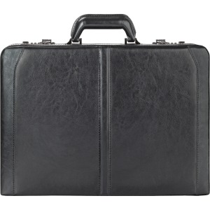 "Solo Classic Carrying Case (Attaché) for 16"" Notebook, Accessories, Cellular Phone, File Folder, Business Card, Pen, PDA, Calculator - Black"