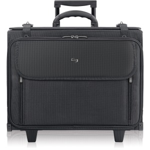 "Solo Classic Carrying Case (Roller) for 17"" Notebook, Accessories - Black"