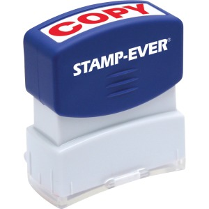Stamp-Ever Pre-inked Red Copy Stamp