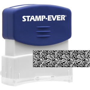 Stamp-Ever Pre-inked Security Block Stamp