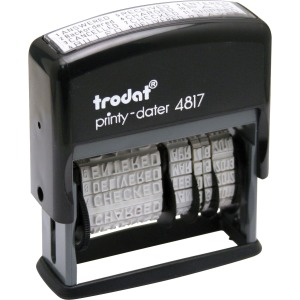 Trodat 12-Message Business Stamp