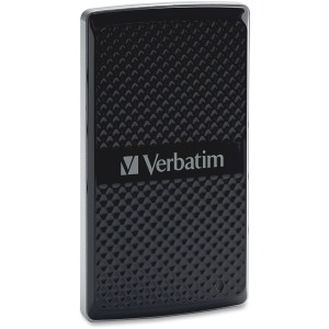 Verbatim 256GB Vx450 External SSD, USB 3.0 with mSATA Interface - Black