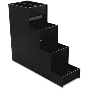 "8 Compartment(s) - 4 Divider(s) - 15.9"" Height x 6"" Width x 19"" Depth - Black - 1Each"