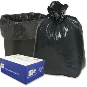"Small Size - 16 gal - 24"" Width x 33"" Length - Low Density - Black - 500/Carton - Can"