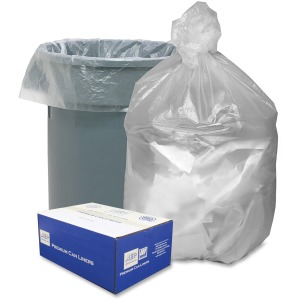 "Medium Size - 30 gal - 30"" Width x 37"" Length x 0.31 mil (8 Micron) Thickness - High Density - Natural - Resin - 500/Carton - Garbage"