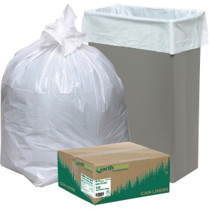 "Small Size - 16 gal - 24"" Width x 33"" Length x 0.87 mil (22 Micron) Thickness - Low Density - White - Plastic - 150/Carton"