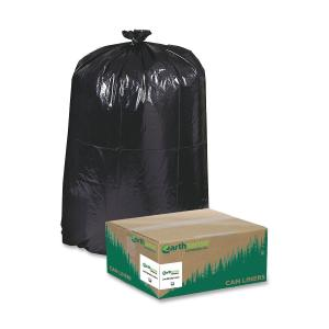 "Extra Large Size - 60 gal - 38"" Width x 58"" Length x 1.25 mil (32 Micron) Thickness - Low Density - Black - Plastic - 100/Carton"