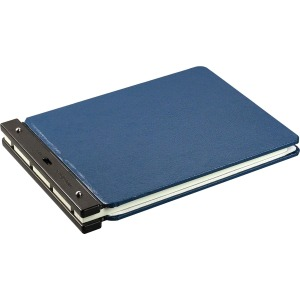 "2"" Binder Capacity - Ledger - 11"" x 17"" Sheet Size - Post Fastener - Vinyl - Light Blue - 1 / Each"