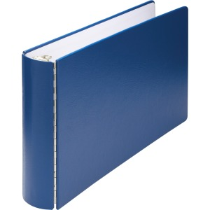"1"" Binder Capacity - Ledger - 11"" x 17"" Sheet Size - 175 Sheet Capacity - 3 x Round Ring Fastener(s) - Vinyl-covered Chipboard - Blue - 1 / Each"