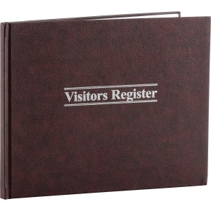 "Wilson Jones® Visitors Register Book, 8 1/2"" x 11 1/2"", 1,500 Entries, 112 Pages"