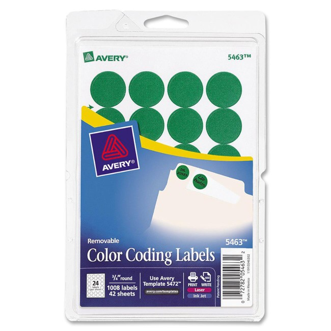 "Avery 3/4"" Round Color Coding Labels"