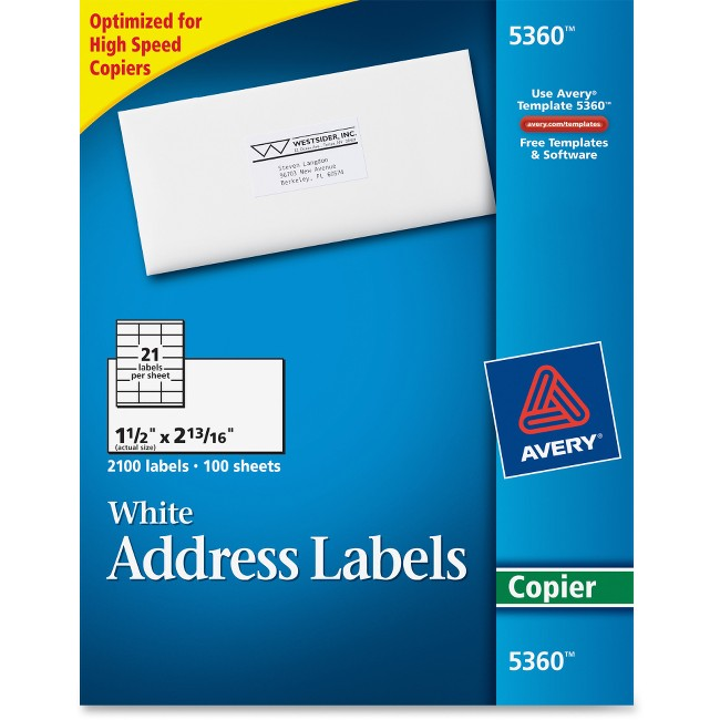 Avery Mailing Labels for Copiers