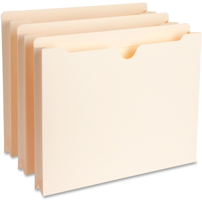 "Business Source 1.5"" Exp Heavyweight File Pockets"