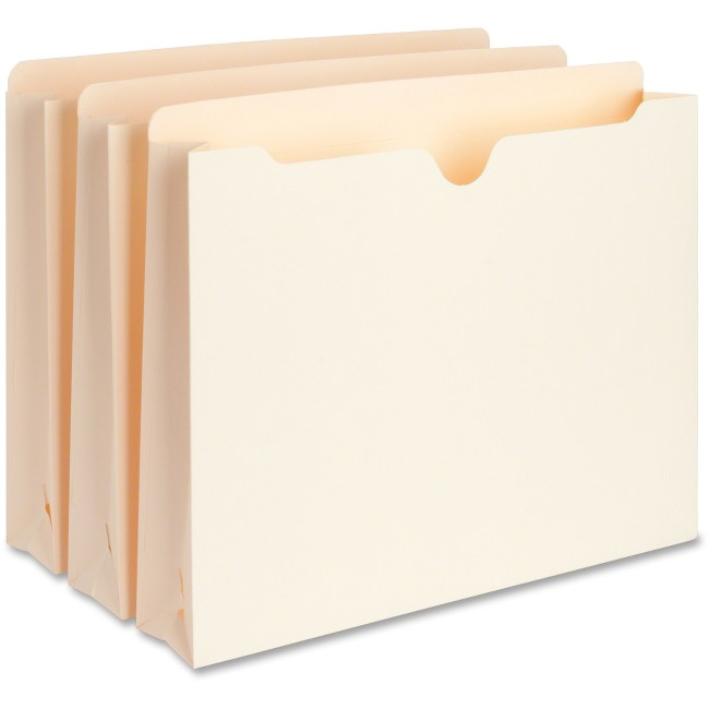 Business Source 2-Ply Vertical Expanding File Pockets