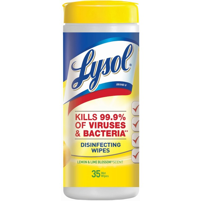 Lysol Lemon/Lime Disinfect Wipes