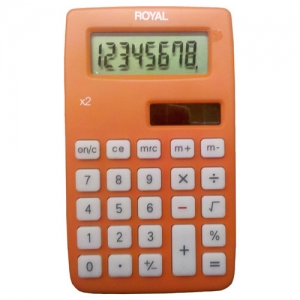 ROYAL X2 8 DIGIT DUAL - POWER HANDHELD CALC