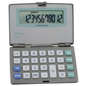 ROYAL XE12 12 DIGIT - FOLDING COMPACT CALC