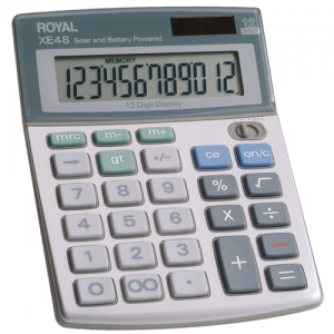 ROYAL XE48 12 DIGIT DUAL - POWERED HANDHELD