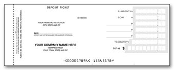 Booked Deposit Tickets - Quick Entry 2-part