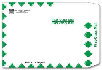White First Class Envelope 1013FW