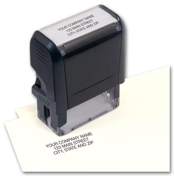 Compact Name and Address Stamp - Self-Inking