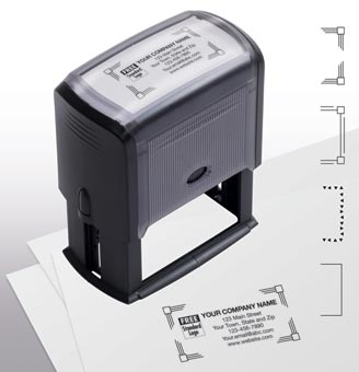 Name & Address Stamp, Large - Self-Inking
