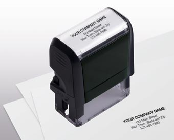 Name and Address Stamp, Small - Self-Inking