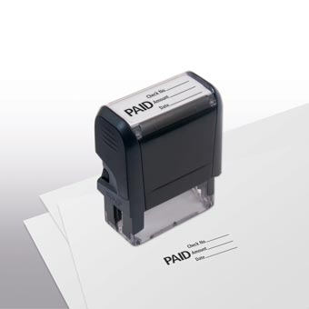 Paid w/ lines Stamp - Self-Inking
