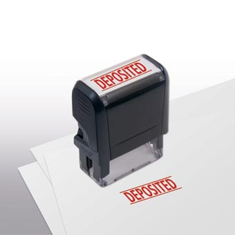 Deposited Stamp - Self-Inking