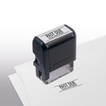 Past Due Please Remit Today! Stamp - Self-Inking