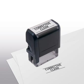 Corrective Claim Stamp - Self-Inking