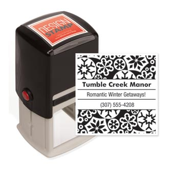 Snowflakes Design Stamp - Self-Inking