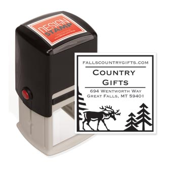 Country Moose Design Stamp - Self-Inking