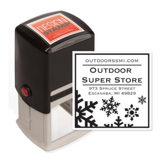 Country Snowflakes Design Stamp - Self-Inking