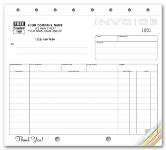 Shipping Invoices, Classic Design, Small Format 2-part