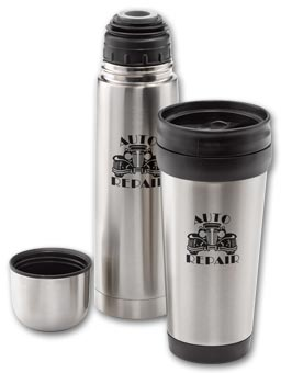 Stainless Thermos and Tumbler Set